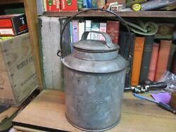 Antique Chicago Milwaukee St Paul And Pacific Railroad Tin Can Pail / Cmstpandp Rr