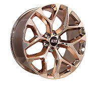 22x9 6x132 Str701 Snowflake Candy Rose Gold Made For Chevy Traverse