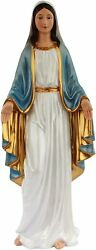 Our Lady Of Grace Blessed Virgin Mother Mary 18 Inch Large Resin Pearl Statue