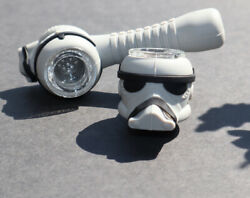 Collectible Star Wars Storm Trooper Silicone Tobacco Smoking Pipe W/ Glass Bowl