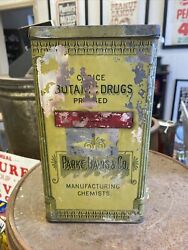 Parke Davis And Co Tin Choice Pressed Botanic Drugs Peppermint Lithograph Can