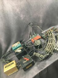 Lot Of Vintage Model Train Tracks Parts And Untested Transformers - Lionel Marx
