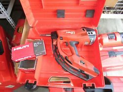 Hilti Gx3 Gas Operated Actuated Nail Gun Fastening Tool Combo Kit 1030