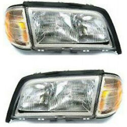 For Mercedes-benz C36 Amg Headlight 1997 Lh And Rh Pair/set Halogen Mb2502106