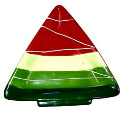 Ceramic Christmas Tree Shape Small Cookie Plate Candy Dish Christmas Holiday