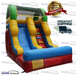 15x9ft Commercial Inflatable Slide Dry Bounce With Air Blower
