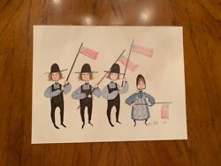 P. Buckley Moss July Fourth Forever Signed Limited Edition Print 1982 157/1000