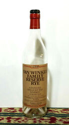 Pappy Van Winkle Family Reserve 13 Year Empty Whisky Bottle Numbered - Rare