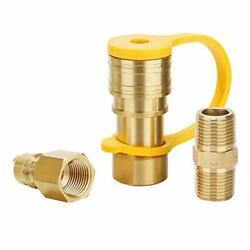 Roastove 3/8 Inch Natural Gas Quick Connect Fittings Lp Gas Propane Hose Quic...