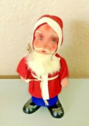 Antique Belsnickle Santa 6 1/2 Father Christmas Us Zone Germany Paper Mache