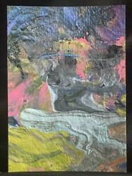 Original Aceo The Convex Haunting Ground Medium Acrylic On Paper Signed Artist
