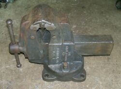 1930 Charles Parker 434 1/2, 43, 4 1/2, 4.5 Swiveling Bench Pipe Jaw Vise 75 Lb