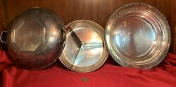 Serving Bowl Separated - Silver Plate - English Silver Mfg Corp 208s Made In Usa