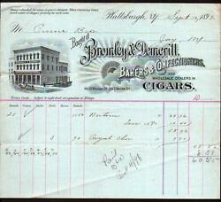 1898 Plattsburgh Ny Cigars Bromley And Demeritt Bakers And Confectioners Letter Head