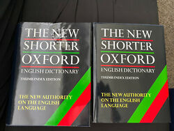 The New Shorter Oxford English Dictionary 2-volumes Histrical Principles 1993