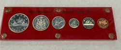 1966 Canada Prooflike Silver Coin Set In Acrylic Holder