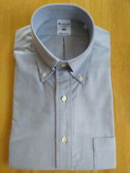 Nwot Southwick For Ships Blue Oxford Cloth Button Down 15-32 Slim