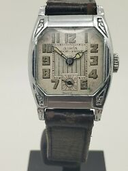 Vintage Abra Stainless Steel Menand039s Manual Wind Watch With Sub Second Hand-repair