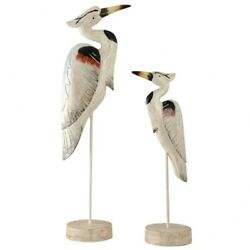 Stylecraft Home Collection Ac521105ds Seaguar Heron On Stands - 31 Inch
