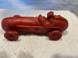 Vintage Cast Iron Toy Cars A Hubley Cast Iron Red Race Car With Driver