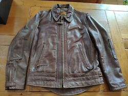 Schott Perfecto Brand 585 Brown Size Sm Made Of Hand Treated Antique Cowhide