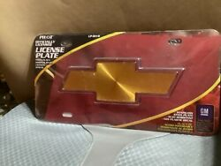 Chevy Bow Tie 3-d License Plate Stainless Steel Plate Chrome Gm Lp-0111b Pilot