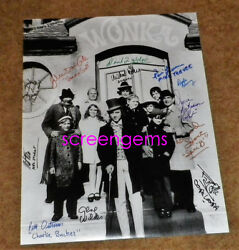 Willy Wonka Chocolate Factory Rare Signed By 12 Cast Gene Wilder 16x20 Large