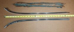 Nos Gm 60-64 Chevy Corvair 2dr Deluxe Back Window Lh And Rh Upper Reveal Moldings