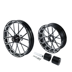 30 Front 18'' Rear Wheel Rim And Hub Fit For Harley Touring 2008-2021 Non Abs
