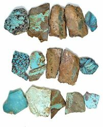 Lot Of 5 Mixed American Turquoise Mines Rough Slabs For Lapidary Cabochon Cuttin