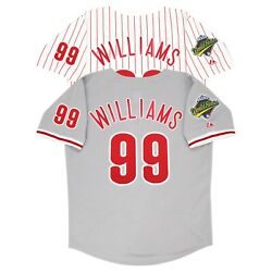 Mitch Williams 1993 Philadelphia Phillies World Series Home And Road Men's Jersey