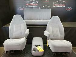 1996 Ford Bronco Set Of Front Power And Rear Seat Gray Cloth Trim Code H6