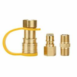 Solimeta 3/8 Inch Natural Gas Quick Connect Fittings Lp Gas Propane Hose Quic...