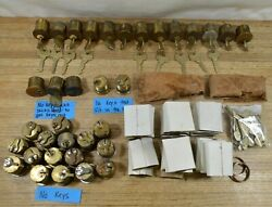 Lot Of 35 Sargent Mortise Cylinder 1-1/8 Rc Keyway - Used With Some Keys Read