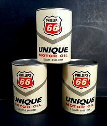 Vintage 1960and039s Phillips 66 Old 1 Quart Unique Oil Can Nice Single One Can Sale