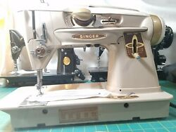 Singer 500a Sewing Machine Slant O Matic Rocketeer Ready To Sew.