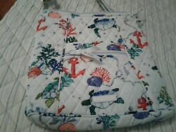 Vera Bradley Hipster Anchors Aweigh,with Lanyard And Zip Id Case.new With Tags