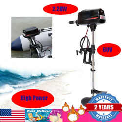 Electric Outboard Motor High Power Brushless Fishing Boat Engine 60v 2.2kw Usa