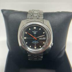 Seiko 5 Sports 7019-8020 Vintage Day Date Ss Used 21 Jewels Automatic Mens Watch