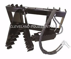 New Tree And Post Puller Attachment For / Fits Bobcat Skid Steer Track Loader