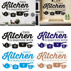 Kitchen Love Quotes Wall Stickers Removable Decals Art DIY Vinyl Room Decor US