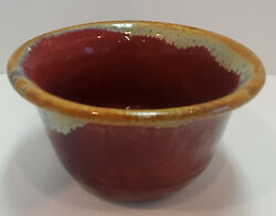 Vintage Studio Art Red Clay Pottery Bowl Signed 6 Diameter 3.75 High