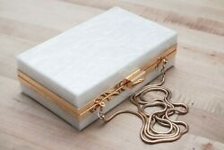Rachel Zoe for Box of Style Clutch White Marble amp; Gold Box Clutch $28.85