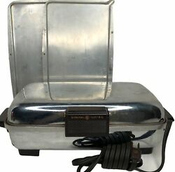 Vintage 1950s Ge General Electric Waffle Iron Griddle 179g39 With Inserts Usa
