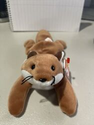 """1996 Ty Beanie Baby """"sly"""" Fox Pe Pellets Red Stamp Number 620"""