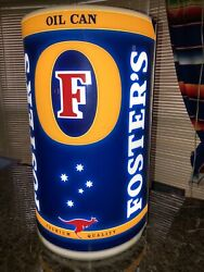 Fosters Lager Lighted Beer Sign Oil Can Works Great