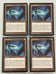 4x Cursed Scroll Tempest Nm/lp Mtg English Magic The Gathering Reserved List