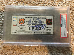 Wayne Gretzky 1983 All Star Game Mvp Ticket Stub 4 Goals 3rd Period Oilers Asg