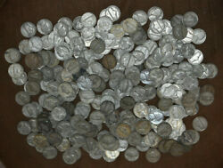 Lot Of 250 Silver War Nickels 1942-1945 - Avg Circulated - Mixed Dates/mints L1