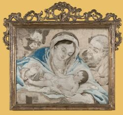 0131-weihnachten St Family Embroidery Picture From Mary Farina 1721